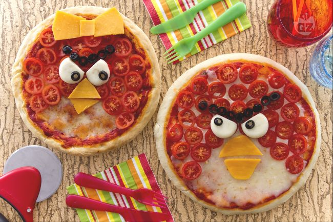 Pizza Angry Birds
